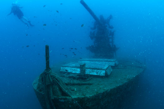 PADI deep, wreck and nitrox specialty course combo in Thailand