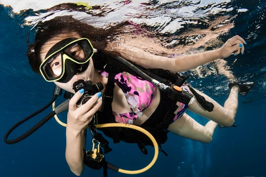 PADI discover scuba diving intro try dive